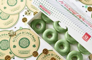 Krispy Kreme Doughnuts' Green O'riginal Glazed Doughnuts