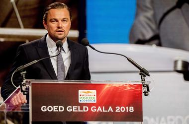 Leonardo DiCaprio giving a speech