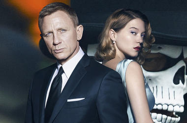 "Daniel Craig as James Bond and Léa Seydoux as Madeleine Swann on ""Spectre"""