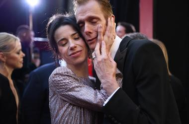 Sally Hawkins and Doug Jones