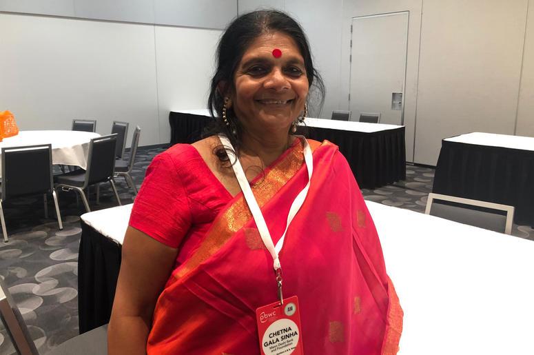 Professional BusinessWomen of California Conference Keynote Speaker Chetna Gala Sinha (Photo credit: Carrie Hodousek/KCBS Radio)