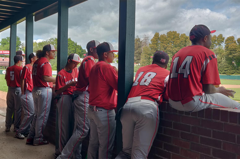 Vallejo Red Hawks Baseball Team (Photo credit: Jeffrey Schaub/KCBS Radio)