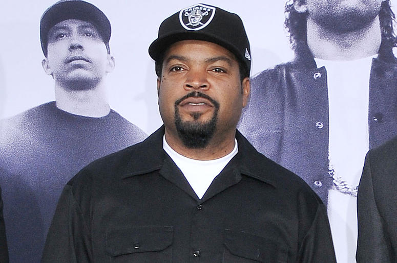 "Ice Cube arrives at the ""Straight Outta Compton"" Los Angeles Premiere held at the Microsoft Theater LA Live in Los Angeles, CA on Monday, August 10, 2015. (Photo By Sthanlee B. Mirador)"