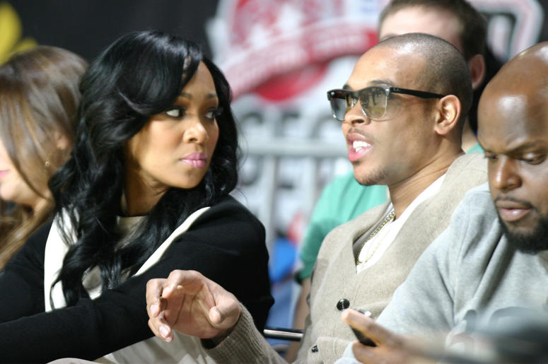 HOUSTON, TX - FEBRUARY 15: Monica and Shannon Brown attend the 2013 NBA All-Star Celebrity Game at George R. Brown Convention Center on February 15, 2013 in Houston, Texas. (Photo by Louis Dollagaray/Getty Images)