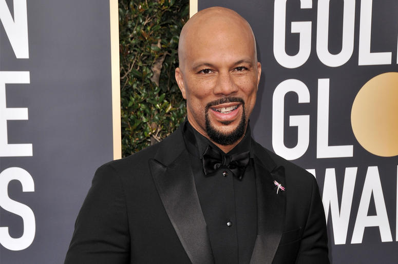 Common at the 75th Golden Globe Awards held at the Beverly Hilton in Beverly Hills, CA on January 7, 2018. (Photo by Sthanlee Mirador)