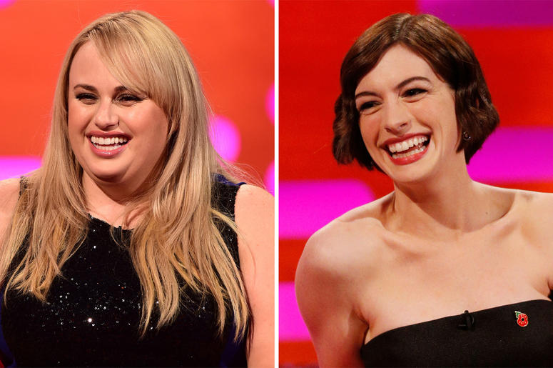 2/21/2018 - Undated file photos of Rebel Wilson (left) and Anne Hathaway, as the duo have given fans a peek at their new con women comedy The Hustle which is to be released on the 29th June. (Photo by PA Images/Sipa USA)