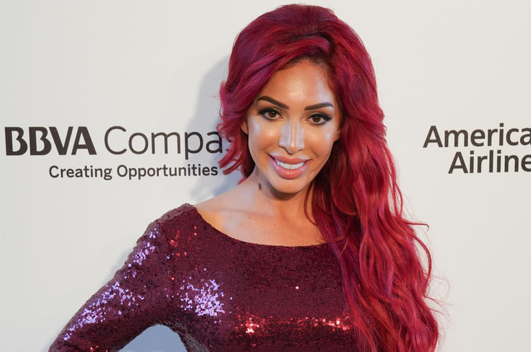 Farrah Abraham on the red carpet at Elton John's 26th Annual AIDS Foundation sponsored By BVLGARI in Los Angeles, CA on March 4th, 2017. (Photo by Alexander Tsway/Sipa USA)