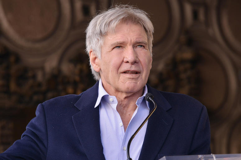 Harrison Ford at Mark Hamill's Star On The Hollywood Walk Of Fame Ceremony held in front of the El Capitan Theatre in Hollywood, CA on Thursday, March 8, 2018. (Photo By Sthanlee B. Mirador/Sipa USA)
