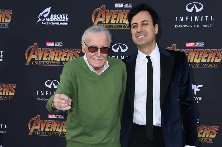 """23 April 2018 - Hollywood, California - Stan Lee. Disney and Marvel's """"Avengers: Infinity War"""" Los Angeles Premiere held at Dolby Theater. Photo Credit: Birdie Thompson/AdMedia"""