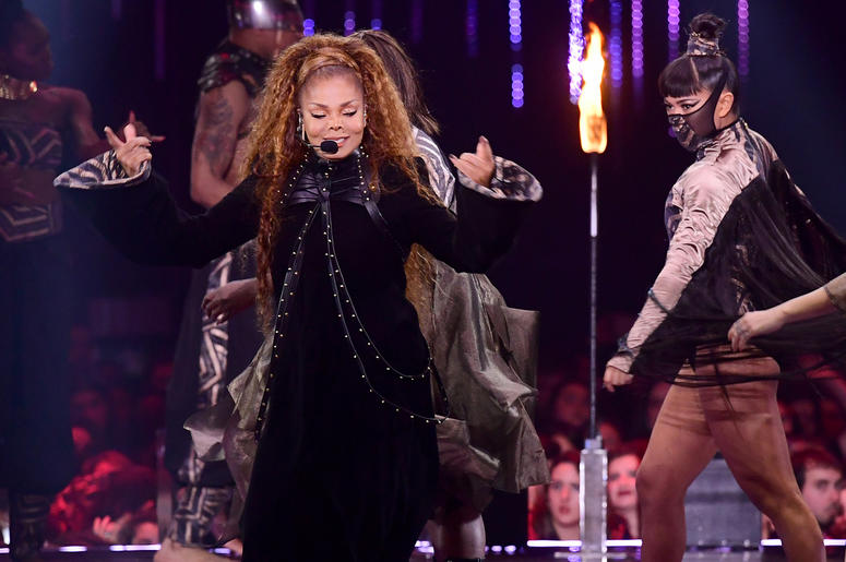 11/4/2018 - Janet Jackson performs on stage at the MTV Europe Music Awards 2018 held at the Bilbao Exhibition Centre, Spain (Photo by PA Images/Sipa USA)