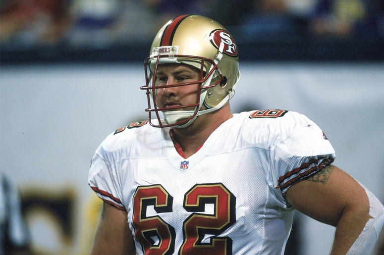 24 Oct 1999: Jeremy Newberry #62 of the San Francisco 49ers looks on the field during a game against the Minnesota Vikings at the Metrodome in Minneapolis, Minnesota. The Vikings defeated the 49ers 40-16. Mandatory Credit: Tom Pidgeon /Allsport