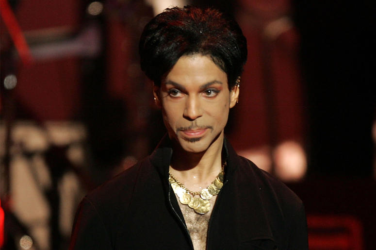 Musician Prince is seen on stage at the 36th NAACP Image Awards at the Dorothy Chandler Pavilion on March 19, 2005 in Los Angeles, California. Prince was honored with the Vanguard Award. (Photo by Kevin Winter/Getty Images)