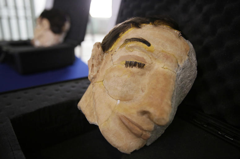 A newly 3D printed decoy head