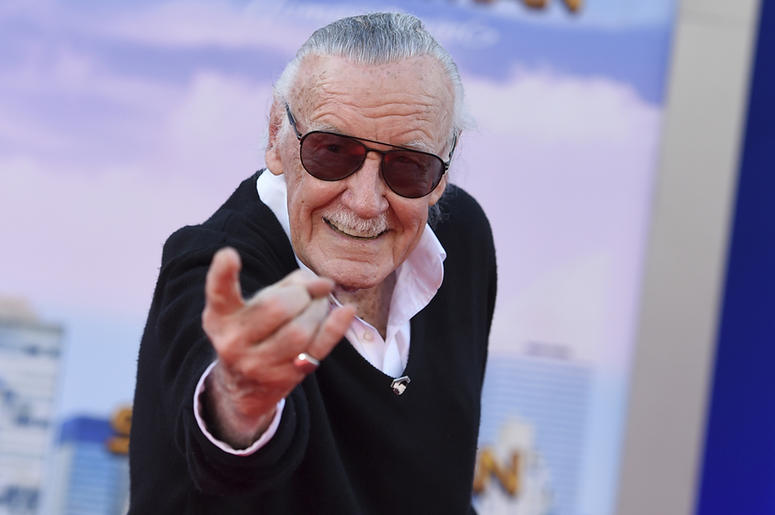 """In this June 28, 2017 file photo, Stan Lee arrives at the Los Angeles premiere of """"Spider-Man: Homecoming"""" at the TCL Chinese Theatre. For comics lovers, Lee was as much a superhero as the characters he helped create. Those fans, along with Lee's friends"""