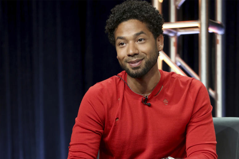 """In this Aug. 8, 2017 file photo, Jussie Smollett participates in the """"Empire"""" panel during the FOX Television Critics Association Summer Press Tour at the Beverly Hilton in Beverly Hills, Calif. Smollett, an actor on the TV series """"Empire,"""" is also an R&B"""