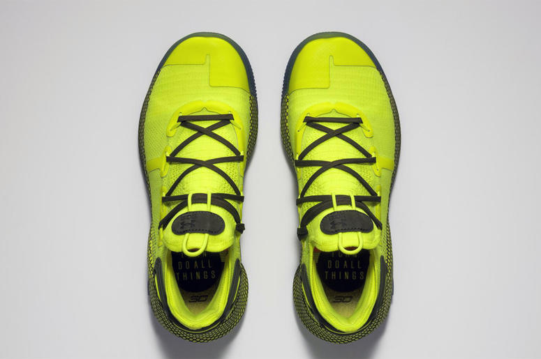 This undated image provided by Under Armour shows the shoes that Golden State Warriors' Stephen Curry will wear during the 68th NBA All-Star basketball game in Charlotte, N.C., on Sunday, Feb. 17, 2019. (Adidas via AP)