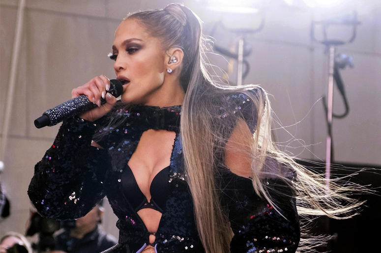 "In this May 6, 2019 file photo, Jennifer Lopez performs on NBC's ""Today"" show at Rockefeller Plaza in New York. (Photo by Charles Sykes/Invision/AP File)"