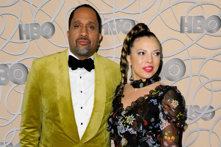 "In this Jan. 8, 2017, file photo, Kenya Barris, left, and Dr. Rania ""Rainbow"" Barris arrive at the HBO Golden Globes afterparty in Beverly Hills, California. (Photo by Richard Shotwell/Invision/AP, File)"