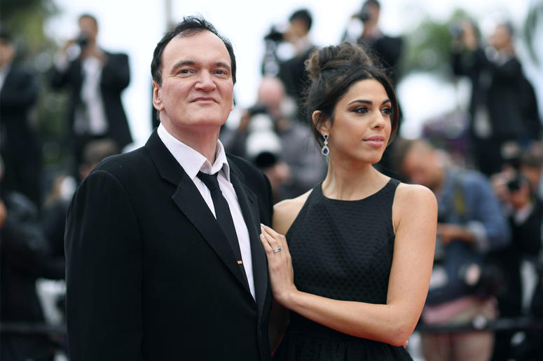 """In this May 18, 2019 file photo, film director Quentin Tarantino and his wife Daniela Pick pose for photographers upon arrival at the premiere of the film """"The Wild Goose Lake"""" at the 72nd international film festival, Cannes, southern France. (Photo by Ar"""