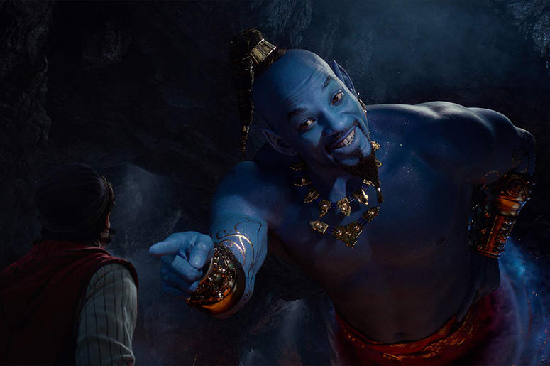 Will Smith and Mena Massoud in 'Aladdin'