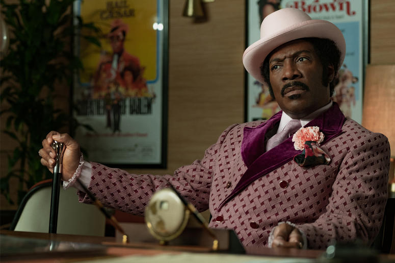 Eddie Murphy as Rudy Ray Moore in 'Dolemite Is My Name' (Photo credit: Netflix)