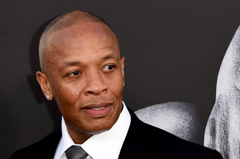"""Producer Dr. Dre arrives at the premiere screening of HBO's """"The Defiant Ones"""" at Paramount Studios on June 22, 2017 in Los Angeles, California"""
