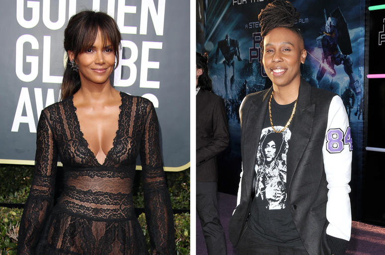 Halle Berry and Lena Waithe (Photo credit: Dan MacMedan/Sthanlee B. Mirador/Sipa USA)