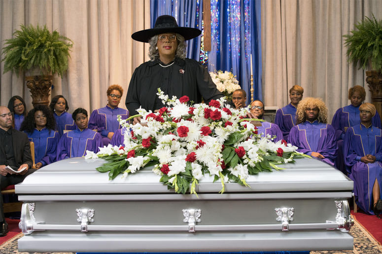 """Tyler Perry starring as Madea in Tyler Perry's """"A Madea Family Funeral (Photo credit: Lionsgate)"""