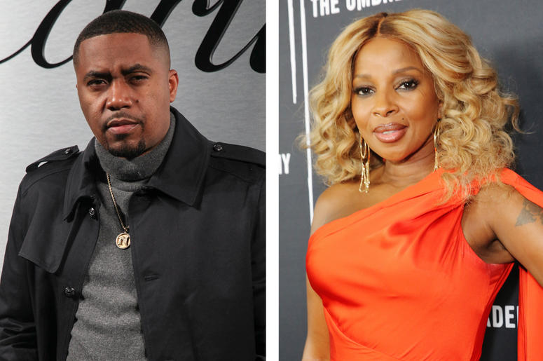Nas and Mary J. Blige (Photo credit: Rachel Murray/Kelly Sullivan/Getty Images)