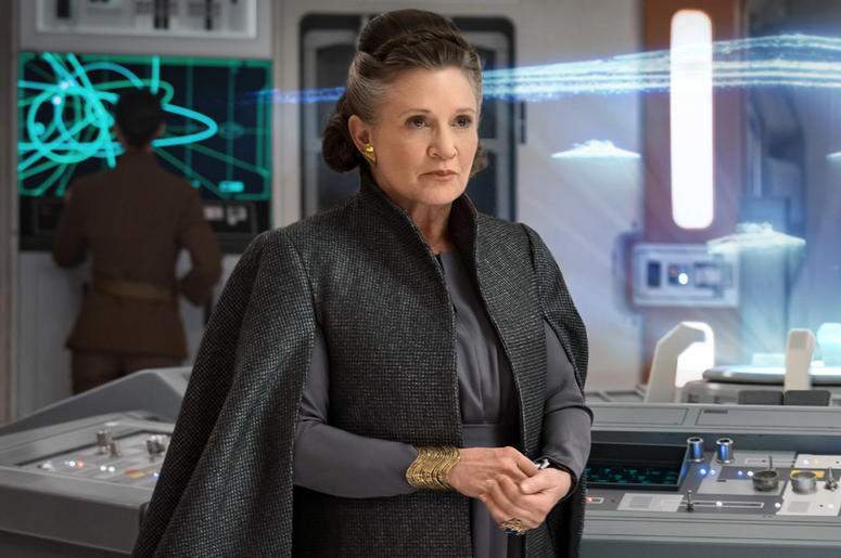 Carrie Fisher as General Leia Organa in 'Star Wars: The Last Jedi' (Photo credit: Lucasfilm/Disney)