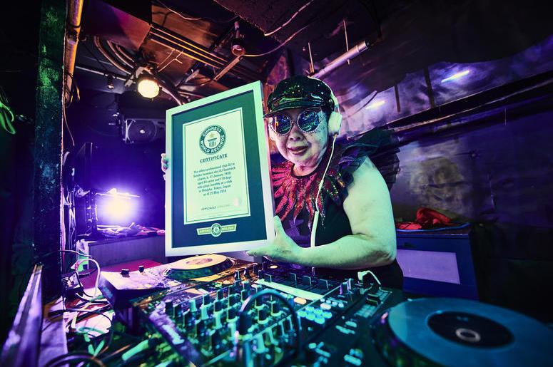 Sumiko Iwamura aka DJ Sumirock (Photo credit: Guinness World Records)