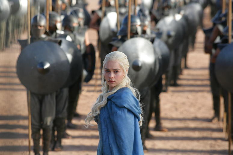 "Emilia Clarke in a scene from ""Game of Thrones."""