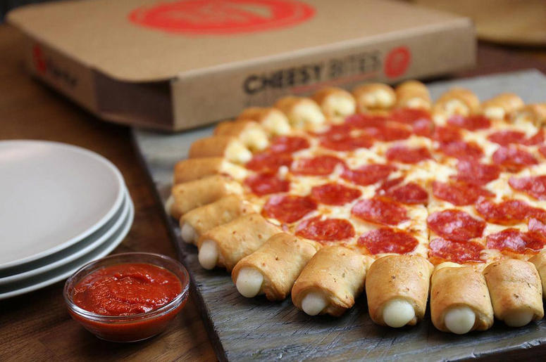 Pizza Hut's Cheesy Bites Pizza