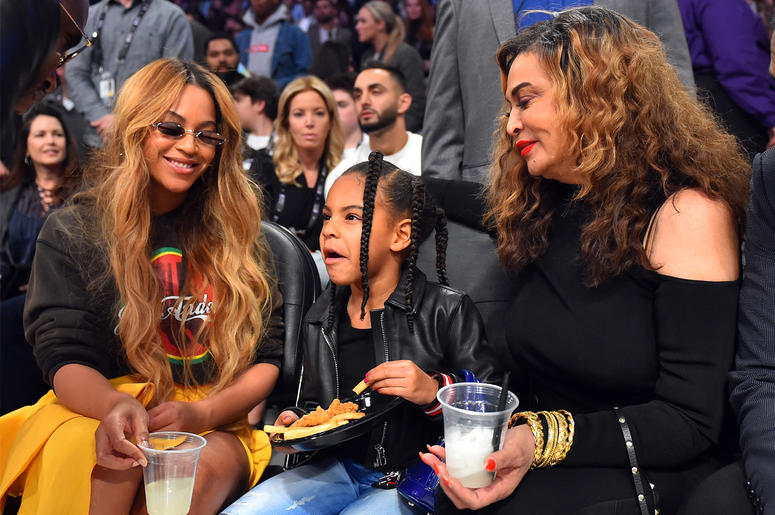 Beyoncé, Blue Ivy and Tina Knowles
