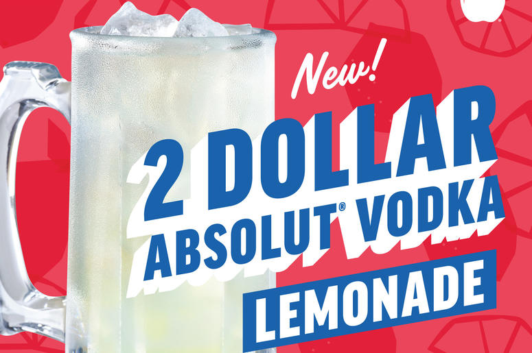 $2 ABSOLUT® Vodka Lemonade