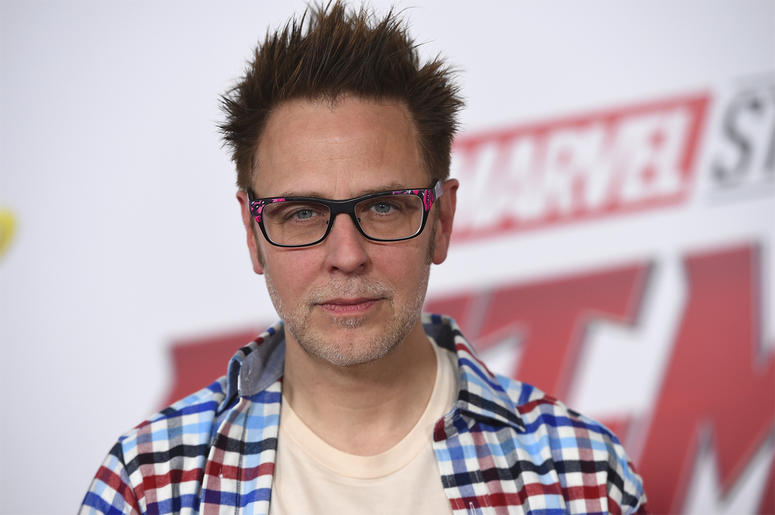 "This June 25, 2018 file photo shows James Gunn at the premiere of ""Ant-Man and the Wasp"" in Los Angeles. (Photo by Jordan Strauss/Invision/AP, File)"