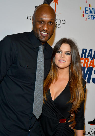 CENTURY CITY, CA - MAY 18: NBA player Lamar Odom and TV personality Khloe Kardashian arrive at the 19th Annual Race to Erase MS held at the Hyatt Regency Century Plaza on May 18, 2012 in Century City, California. (Photo by Frazer Harrison/Getty Images for