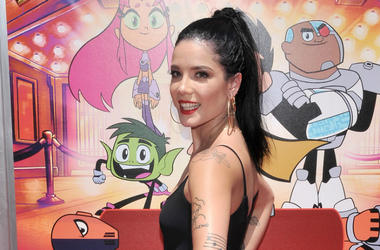 "Halsey arrives at the ""Teen Titans Go! To The Movies"" Los Angeles Premiere held at the TCL Chinese Theater in Hollywood, CA on Sunday,"