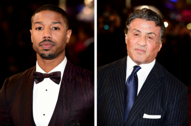 Michael B. Jordan and Sylvester Stallone attending the European premiere of Creed held at the Empire Cinema in Leicester Square, London.