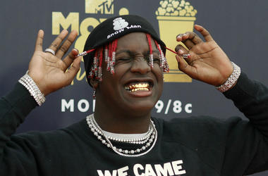 6/16/2018 - Rapper Lil Yachty attending the 2018 MTV Movie and TV Awards held at the Barker Hangar in Los Angeles, USA. PRESS ASSOCIATION Photo. Picture date: Saturday June 16, 2018.