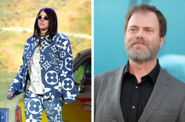 Billie Eilish and Rainn Wilson of 'The Office'