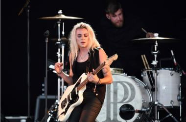 Lyndsey Gunnulfsen of PVRIS performs at Perfect Vodka Amphitheater