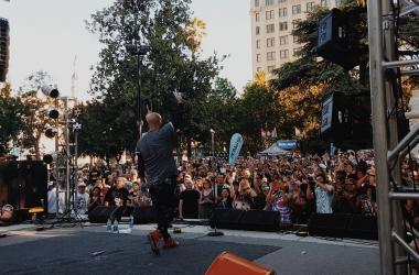David Garibaldi performing at Concerts in the Park 2016, Sacramento!