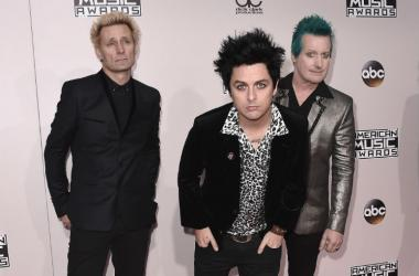 Rock band Green Day at ABCs American Music Awards