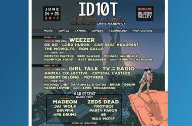 ID10T Music Festival and Comic Convial hosted by Chris Hardwick Comedy live weezer Demetri Martin Animal Collective Shoreline Amphitheater