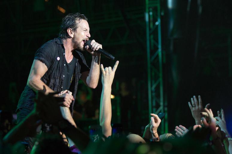 Eddie Vedder of Pearl Jam at Great Stage Park during Bonnaroo