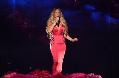 Mariah Carey onstage at the 2018 American Music Awards