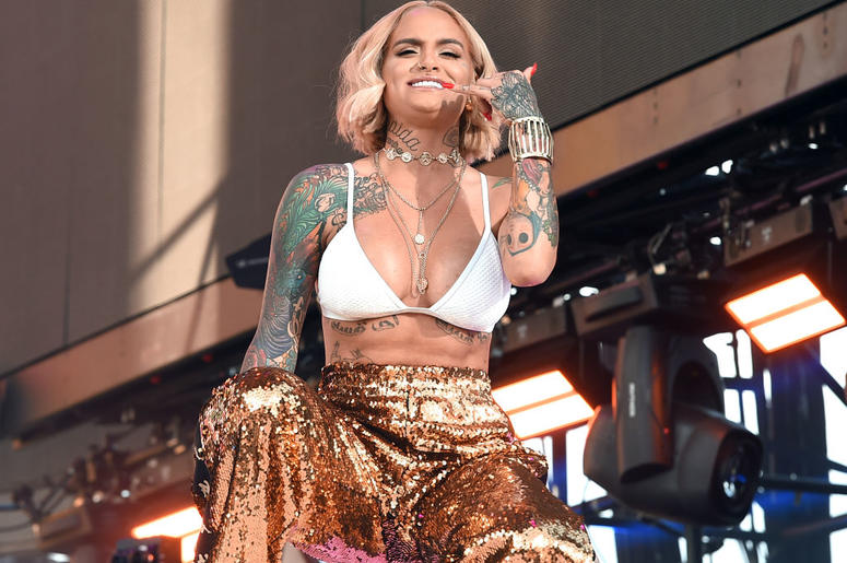 Kehlani performs onstage during the 2018 Coachella Valley Music and Arts Festival Weekend 1 at the Empire Polo Field on April 15, 2018 in Indio, California