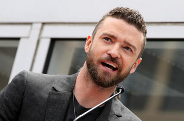 Justin Timberlake.NSYNC Honored With Star On The Hollywood Walk Of Fame.