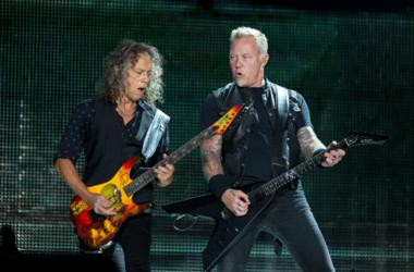 Kirk Hammett and James Hetfield of Metallica